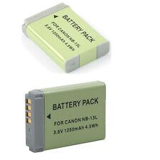 2x NB-13L NB13L 3.6V 1250mAh Battery For Canon G7X G7 X PM1 Camera