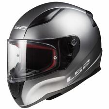 LS2 Rapid FF353 Plain Full Face Motorcycle Helmet White Black Titanium Bike Lid