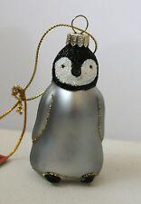 Cobane Blown Glass  Baby Emperor Penguin  Christmas Tree Ornament