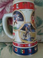 XXIV GAMES OF THE OLYMPIAD SEOUL 1988 BEER STEIN, ANHEUSER BUSCH, MADE IN BRAZIL