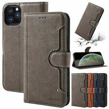 Funda con tapa billetera cuero para iPhone 11 Pro XS Max XR 6s 7 8 Plus carcasa