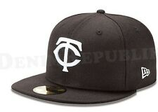New Era 5950 MINNESOTA TWINS Black White Cap 59FIFTY Fitted MLB Baseball Hat
