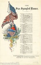 1814 Star Spangled Banner #2 Frances Scott Key Vintage Song Sheet Music Poster