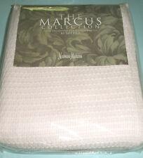 Sferra TARA Neiman Marcus King Blanket Lt. Pink Lightweight Textured Cotton New