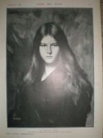 A Young Girl from J J Henner 1900 old print