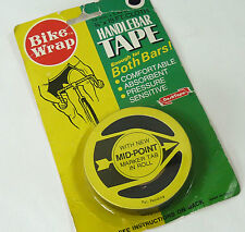 Bike Wrap Handlebar Tape Black Cloth Made In The Usa Vintage Bicycle NOS
