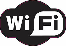 200x140mm Wifi | Plain | Negro Pub-Cafe-Bar-hotel - Espacio-Zone-Etiqueta Engomada