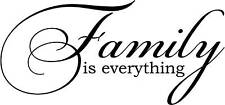 Family is everything  Vinyl lettering wall decals words quotes family decal home