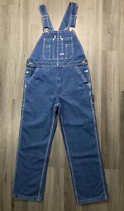 NWT Walls Big Smith Men's Relaxed Fit Medium Wash Blue Bib Overalls Size 34X32