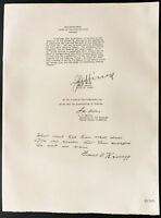 1926 - Litografía General Hines, Mr. A. W. Mellon, Mr Frank B. Kellog