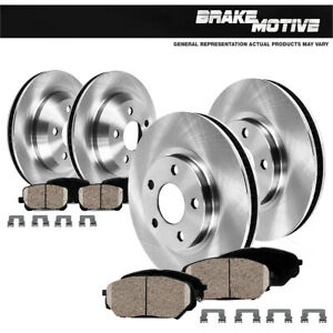 For 2007 2008 2009 2010 2011 2012 2013 FORD EDGE Front+Rear Rotors Ceramic Pad