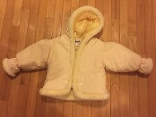 Osh Kosh B'gosh Yellow Winter Coat Jacket with faux fur trim Girls 24M adorable