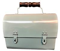 Metal Lunch Box, Dome Top  NWT, Aqua. Nostalgia Appearance. Guaranteed!