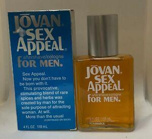 Jovan  Sex Appeal Aftershave / Cologne for Men 4 fl oz new box  ORIGINAL  90's