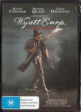 WYATT EARP - KEVIN COSTNER - NEW & SEALED REGION 4 DVD FREE LOCAL POST