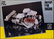Pocher KM/55 Ferrari F40 Engine Kit 1/8 Scale -- NEW In Box!!!