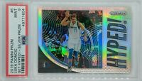 2019-20 Panini Prizm Get Hyped! Silver Luka Doncic #6, Mavs, Graded PSA 9