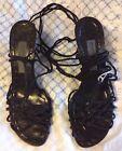 ALBERTA FERRETTI sandali alla schiava neri - slave sandals black n. 37
