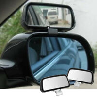2Pcs Black Universal Wide Angle Rear Side View Blind Spot Mirror For Car Truck