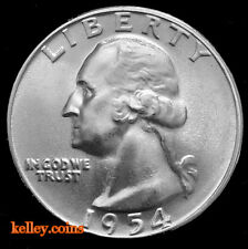 1954 Washington Silver Quarter BU