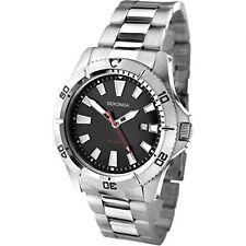 Sekonda Men's Black Dial Silver Stainless Steel Bracelet Watch 1007 RRP £59.99