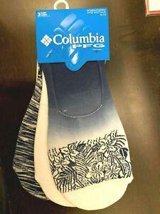 """Columbia Sportswear PFG Flowers Liner Socks - 3-Pack """"Collegiate Navy Blue""""  M"""