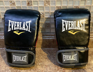 Everlast MMA Boxing Gloves (12 oz). Black/ Red NEW Without Tags