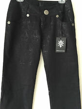 $545.00 NWT THOMAS WYLDE Jacquard Black Metallic Skull Trousers, Pants Black. 4