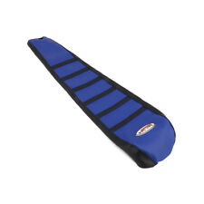 Pro Blue Ribs Ribbed Gripper Soft Seat Cover For Yamaha YZ125 YZ250 02-16 03 04