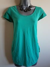 Size 12 Maternity Top NEW LOOK Green Stretch Excellent Condition Women's Casual