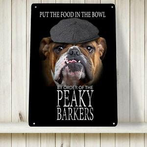 Peaky Barkers British Bulldog Sign - blinders A4 Print Metal Sign