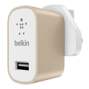Belkin Premium Universal Fast 2.4A Mains Charger for iPhone X 8  Smartphone Tabs