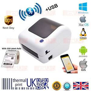 BEEPRT® Direct Thermal Shipping 4x6 Label Printer Bluetooth with Label Rolls