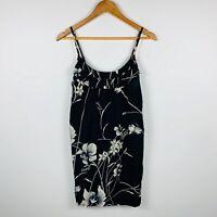 Billabong Womens Dress Size 10 Summer Shift Dress Short Length Floral Design