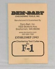 Dem-Bart Checkering Tool Replacement Cutter F-1