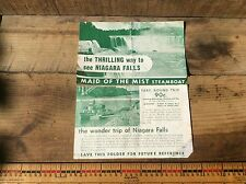 Vintage Niagara Falls Maid Of The Mist Brochure, Buying Two One Money, 50's ?