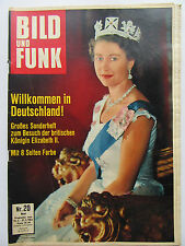 Bild und Funk Nr 20/1965, Besuch der Queen Elizabeth II., Ellen Schwiers