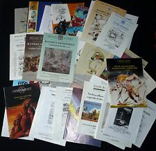 GROS LOT 39 catalogues ventes aux enchères BD et planches originales
