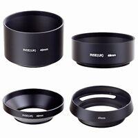 49mm standard telephoto wide angle vented curved metal lens hood kit set 4pcs fr