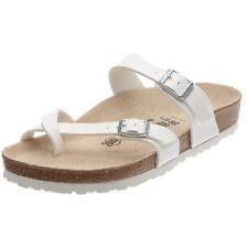 Birkenstock 071053 Women's Mayari Birko-Flor Sandals, White, 36 N EU