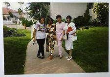 Vintage PHOTO African American Women Females On Vacation In Courtyard