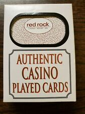 Authentic Las Vegas Nevada Red Rock Hotel Casino Playing Cards Deck - Played