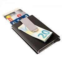 Porte-carte avec pince à billets Porte-monnaie compact en alu Protection des don