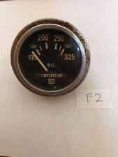 Vintage Stewart Warner SW Oil Temperature Gauge Meter 428077 Steampunk F2