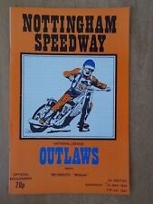 NOTTINGHAM v WEYMOUTH 9th MAY 1979 SPEEDWAY PROGRAMME NATIONAL LEAGUE