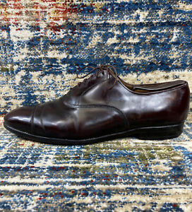 Vtg Allen Edmonds Burgundy Park Avenue 5675 Cap Toe Dress Leather Shoe 11.5D