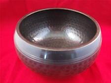 Medium Sized Black Beaten Tibetan Singing Bowl.