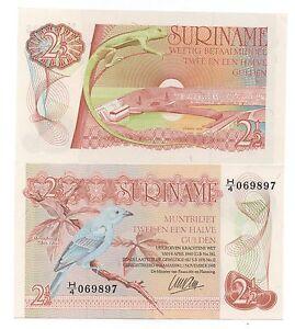 SURINAME SURINAM 2.5 - 2 1/2 GULDEN 1985 PICK 119 UNC-