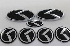 New 7pcs Black 3D Logo EMBLEM Badge Sticker Full SET for KIA K5 Optima 2011-2016