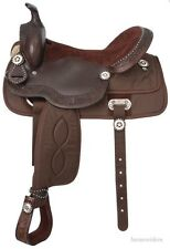 15 Inch Western Trail Saddle - Krypton/Leather/Silver - Brown - King Series
